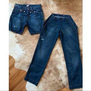 FRANKIE MORELLO Milan Jeans Shorts/Pants